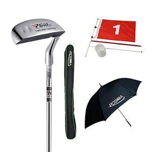 Posma GPT06B Jetons de club de golf bidirectionnels avec parapluie de golf, épingle drapeau et sac de golf