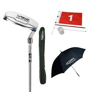 Posma GPT19B Jeton de club de golf à sens unique avec parapluie de golf, épingle drapeau et sac de golf