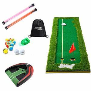 POSMA PG240B Ensemble de 2 balles de golf avec mini filet de golf vert à haute simulation 2 balles de tournée 12 balles en mousse