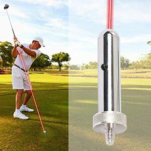 Putter de Golf Aimuleuse Golf Formation Aide Golf Putter Vue Laser pour Les Amateurs de Golf Entraîneur Golf Ball Holder Sports de Fitness en Plein air