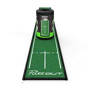 PuttOut Slim Tapis de Golf Fin Mixte, Vert, 25cm x 240cm