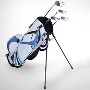 Sac de Golf Sac de Golf avec Support pour Hommes et Femmes, Version Portable légère, Sac à bandoulière,Bleu