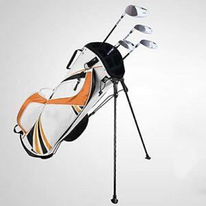 Sac de Golf Sac de Golf avec Support pour Hommes et Femmes, Version Portable légère, Sac à bandoulière,Orange
