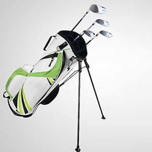 Sac de Golf Sac de Golf avec Support pour Hommes et Femmes, Version Portable légère, Sac à bandoulière,Vert