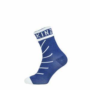 SealSkinz Chaussettes de Cheville avec hydrostop Super Thin Ankle Unisex-Adult, Navy Blue/White, S