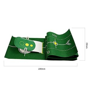 SJZERO Golf Putt Trainer Golf Putting Mat Tapis de Pratique de Golf Pliable pour intérieur extérieur
