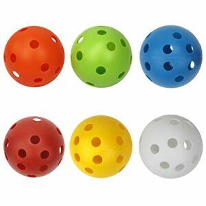 SM SunniMix 6X Balles de Golf d'Entraînement, Flux d'air Creux Practise de Balle de Golf d'Entraînement Sports Balles de Golf Accessoires