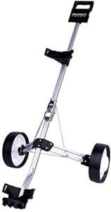 SpiceRack Fournitures de Pratique de Golf Chariot de Golf pivotant Pliable 2 Roues Push Pull Chariot Chariot de Golf Chariot de Golf pour la Pratique de Golf intérieure et extérieure