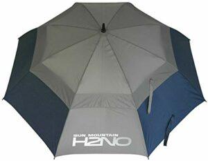 Sun Mountain H2NO Parapluie à Double auvent Bleu Marine/Gris 152 cm