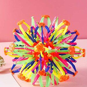 Surakey Boule Expanding,Boule Magique Extensible en Plastique Multicolore, Sphère Jouet Enfants Lancer Balle Rétractable Boule Jouet Anneaux Expanding Ball Jouet pour Enfants Adulte