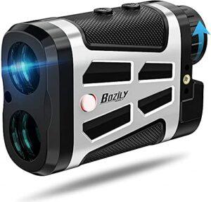Télémètre de Golf, télémètre Laser Golf, grossissement 6X distanzmesser Flag-Lock 1500 Yards/mètre Laser télémètre Chasse, télémètres à écran LCD Rouge/Noir avec Pente Marche/arrêt étanche Vibration