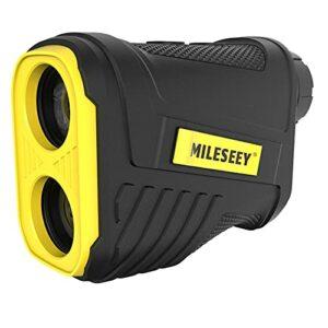 Télémètre Golf Laser, Mileseey 600M Télémètre Chasse Précision ±0,5m avec Chargement USB et Compensation de Pente, Grossissement 6X pour Chasse et tir à l'arc, l'escalade, IP54 Étanche