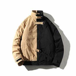 Veste matelassée en molleton pour hommes Plus Hiver gardez le coton chaud de coton épaisseur patchwork et épaississant veste de mode en cuir veste veste épaisse veste veste vêtements hommes Veste de c