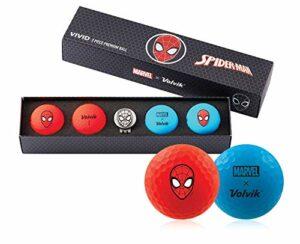 Volvik Marvel Balles de Golf – Différents Ensembles Cadeaux de Super-héros – Spiderman/Hulk/Thor/Black Panther/Captain America/Iron Man
