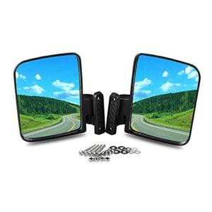 YINLANSTOR YLAN Store Miroirs de charrette de Golf – Vue de côté Pliante Mirror Fit pour Les Chariots de Golf adaptés au Club Voiture Convient à EZGO Bonne qualité Accessoires Auto