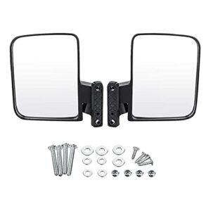 YLAN Store Miroirs de charrette de Golf – Vue de côté Pliante Mirror Fit pour Les Chariots de Golf CARTS Car, EZGO, Yamaha, Star, PARTÈRES Zones (Color : Black)