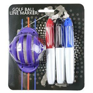 YOURPAI Marqueur de balle de golf, marqueur d'alignement, fournitures de golf, marqueur de balle de golf, violet