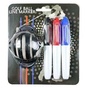 YOURPAI Marqueur de balle de golf, marqueur d'alignement pour ligne de balle de golf, noir