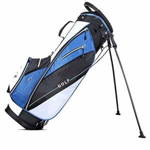 YUNLILI Multifonction Stand de Golf Sac avec Sac de Golf léger Sac de Golf de Golf Carry Bag Club de Golf avec Plusieurs Poches de Rangement pour Hommes et Femmes (Color : Blue, Size : 30x38x124cm)