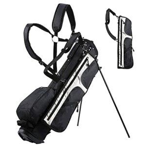 YYC Golf Club Stand Léger et Imperméable Adulte Unisex,Sac de Golf de Voyage Facile à Transporter avec Diviseur 14 Compartiments,pour Entraînement de Golf(Noir)