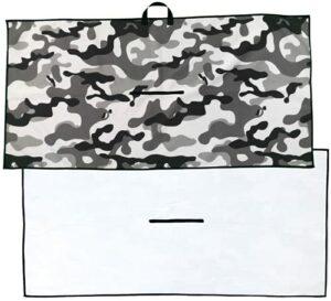 Zippa Serviette de golf en microfibre gaufrée de qualité supérieure – 50,8 x 101,6 cm – Grande serviette de golf pour sacs de golf – Facile à nettoyer pour clubs de golf – Pour homme et femme