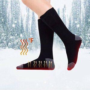 ZWCC Chaussettes Chauffantes éLectriques, 1 Paire De Chaussettes Chauffantes, Chaussettes ExtéRieures Chaudes pour l'hiver Chaussettes Longues De Ski en Tube
