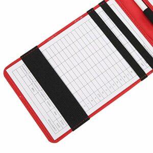01 Carte de Score de, Livre de Notation de Couverture de Livre de Yardage Protecteur de Carte de Score, pour Les Sports de Plein air de Golfeur