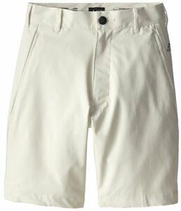 adidas Golf Boys Puremotion Stretch 3 Stripes Shorts, Ecru/Ecru, X-Large