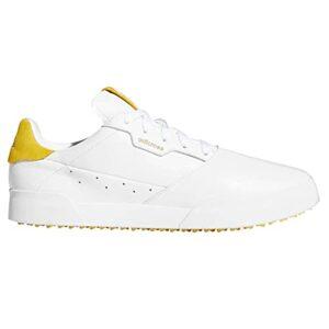 adidas Golf Hommes Adicross Retro Chaussures de golf – Blanc/Jaune – UK 8.5