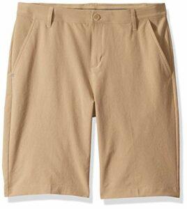 adidas Golf Solid Golf Shorts, Raw Gold, X-Large