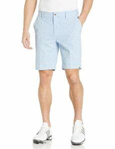 adidas Ultimate Short à Carreaux pour Homme, Homme, Short, TM6297F9, Bleu Brillant, 30W