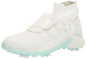 adidas Women's ZG21 Motion Primegreen BOA Mid Cut Golf Shoes, Non-Dyed/Halo Mint/Non-Dyed, 8