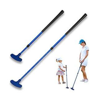 AYily Putters de golf pour homme et enfant droitier et gaucher – Mini putter de golf pour enfants – Rétractable
