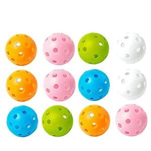 Ballons De Golf Pour La Pratique De La Balançoire Plastique Ballons De Golf Flux D'air Creuse Pratique Creuse Boules De Golf Pour Balançoire En Plein Air Pratique Pratique Gamme Random Couleur 12pcs