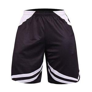 BUZHIDAO Short de sport pour homme – Été – Absorbe la transpiration – Séchage rapide – Short de jogging, de course et de fitness., Blanc., M