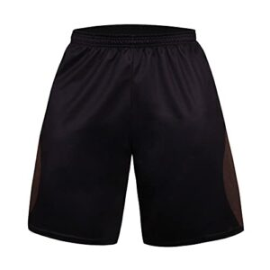 BUZHIDAO Short de sport pour homme – Short de basketball – Absorbe la transpiration – Séchage rapide – Short de tennis, de course et de fitness., café, XL