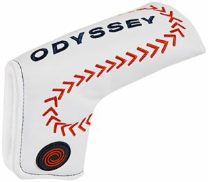 Callaway Baseball Blade Odyssey Golf Couvre-putter lame Adulte Unisexe, Blanc/Rouge
