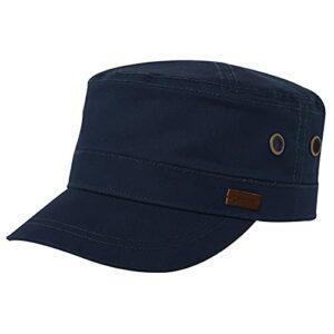 Comhats Casquette militaire classique pour homme 100 % coton – Casquette de baseball pour golf, course à pied, cyclisme – Taille réglable – Bleu – Medium