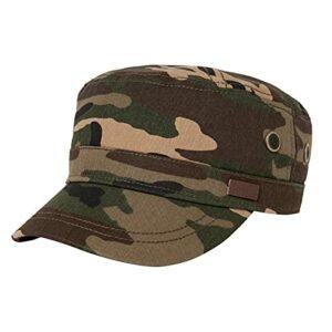 Comhats Casquette militaire classique pour homme 100 % coton – Casquette de baseball pour golf, course à pied, cyclisme – Taille réglable – Vert – Medium