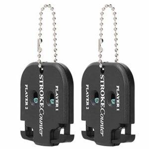 Compteur de coups de, compteur de points de 2 pièces Compteur de points de portable avec porte-clés pour la pratique du