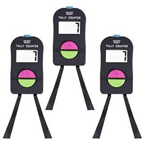 Digital Main Tally Compteur Electronique Ajouter Un Manuel Soustricialiser Un Clic avec Une Lanière De Pochette De Poche Clicker pour Golf 3pcs