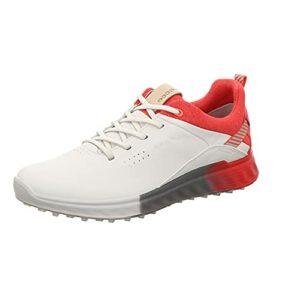 ECCO S- Three, Chaussure de Golf Femme, Hibiscus Blanc, 39 EU