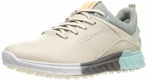 ECCO Women's S-Three Gore-TEX Golf Shoe, Gravel, 37 M EU (6-6.5 US)