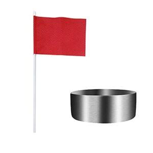 Faderr Coupe de trou de golf, coupe de trou de golf, coupe d'entraînement de golf, coupe verte avec drapeau, accessoire d'entraînement de golf