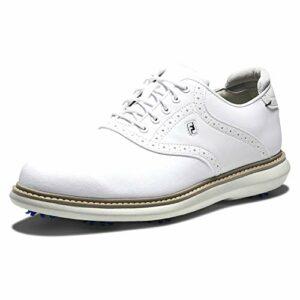 Footjoy Traditions, Chaussure de Golf Homme, Blanc, 40.5 EU