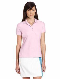Greg Norman Protek T-Shirt en Micro-piqué de, Femme, Bleu foncé