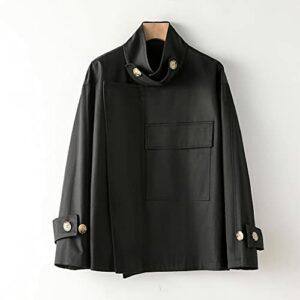 GYZX Femmes Automne Trench Manteau Longue Manches Turn Collier Femmes Kaki Trench Coat Streetwear (Color : B, Size : L)