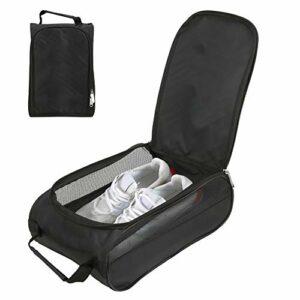 HechoVinen Sac à chaussures de golf en nylon respirant de grande capacité avec fermeture éclair