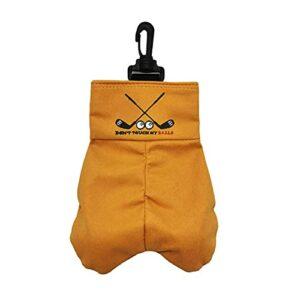 Housse pour sac de golf avec 6 balles, 19 x 13,5 cm, cadeau amusant qui ne manquera pas de rire | Stockez vos autres accessoires de golf pour homme tels que les tees et les gants en les plaçant