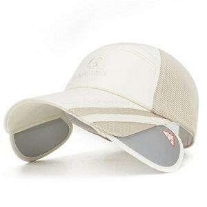 iSunday Casquette de baseball pour homme, nouvelle version coréenne de la casquette à séchage rapide pour femme, casquette de tennis de golf, chapeau de soleil pour femme, beige, M-L